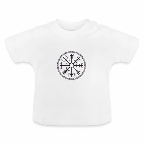 Vegvisir wayfinder viking compass - Vauvan t-paita
