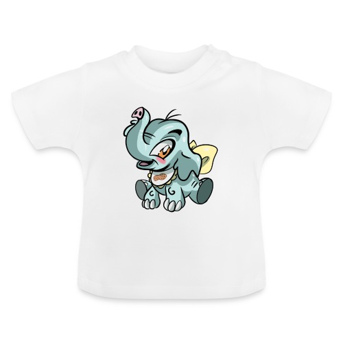 Kleine olifant cartoon`grappige met pinda - Baby T-shirt
