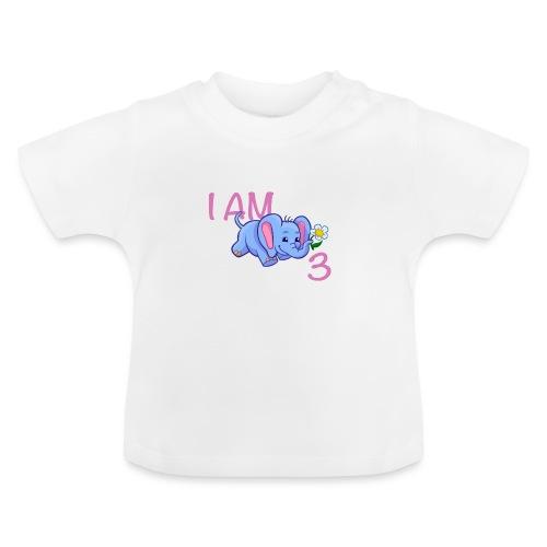 I am 3 - elephant pink - Baby T-Shirt