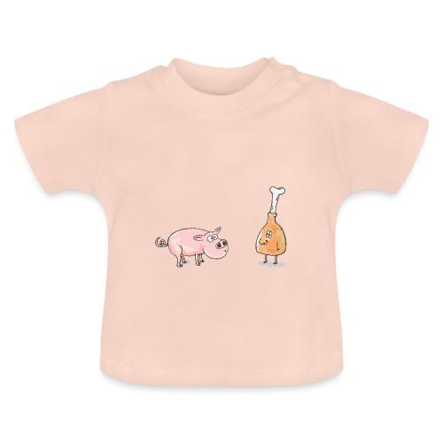 Le cochon et le jambon - T-shirt Bébé