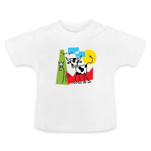 vache-noir-et-blanc et couleurs - T-shirt Bébé