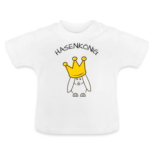 Hipps mit Schriftzug Hasenkönig (schwarz) - Baby T-Shirt