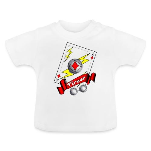 t shirt petanque tireur as du carreau boules - T-shirt Bébé
