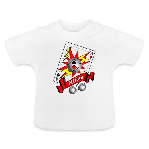 t shirt petanque milieu as des pointeurs as du tir - T-shirt Bébé