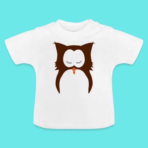 Eule braun - Baby T-Shirt