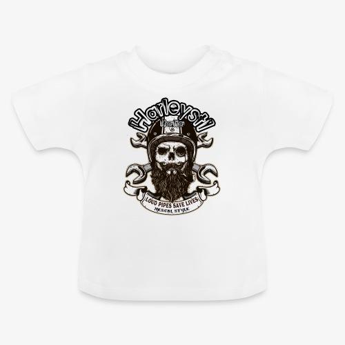 Harleysti Italia - Loud Pipes Save Lives - Maglietta per neonato