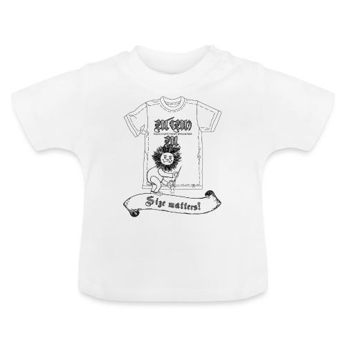 Size matters (Karlchen die Kalorie) - Schwarz - Baby T-Shirt
