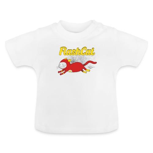 FlashCat Vintage Comic Katze Superheld - Baby T-Shirt