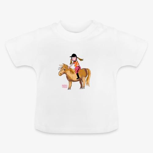 petite fille et poney - T-shirt Bébé