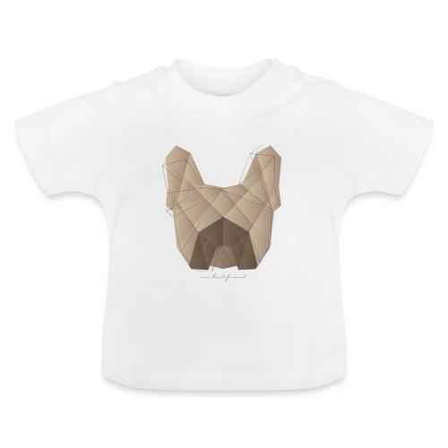 Geometric Frenchie fawn - Französische Bulldogge - Baby T-Shirt