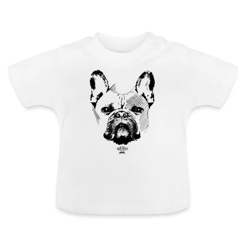 Französische Bulldogge Sketch - Baby T-Shirt
