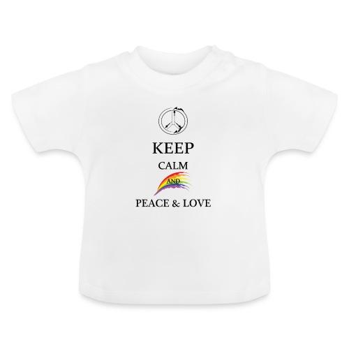 keep calm and Peace & Lov - Maglietta per neonato