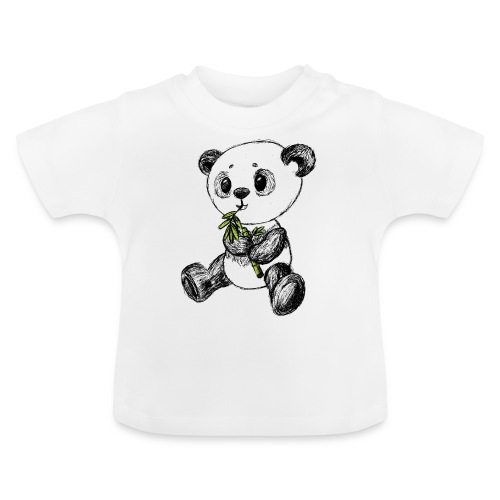 Panda bear colored scribblesirii - Baby T-Shirt