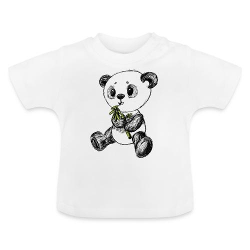 Panda Karhu värillinen scribblesirii - Vauvan t-paita
