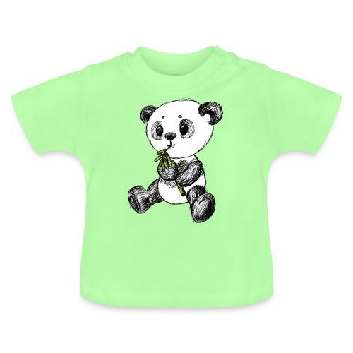 Panda Bär farbig scribblesirii - Baby T-Shirt