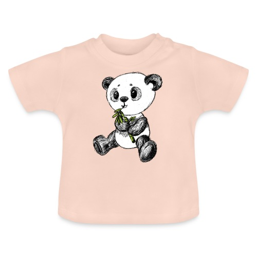 Panda bear colored scribblesirii - Baby T-Shirt