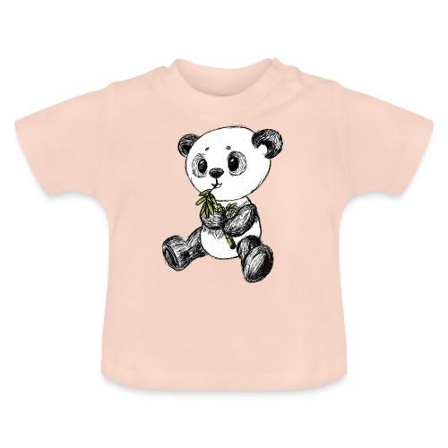 Panda bjørn farvet scribblesirii - Baby T-shirt