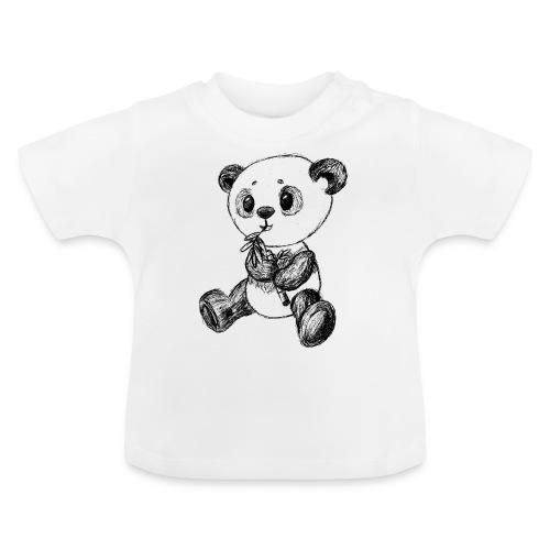 Panda Bär schwarz scribblesirii - Baby T-Shirt