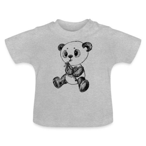 Panda bjørn sort scribblesirii - Baby T-shirt