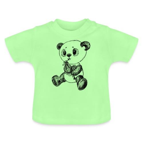 Panda Karhu musta scribblesirii - Vauvan t-paita