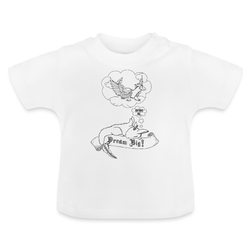 Dream Big (Tiny der Wolkendrache) - Schwarz - Baby T-Shirt