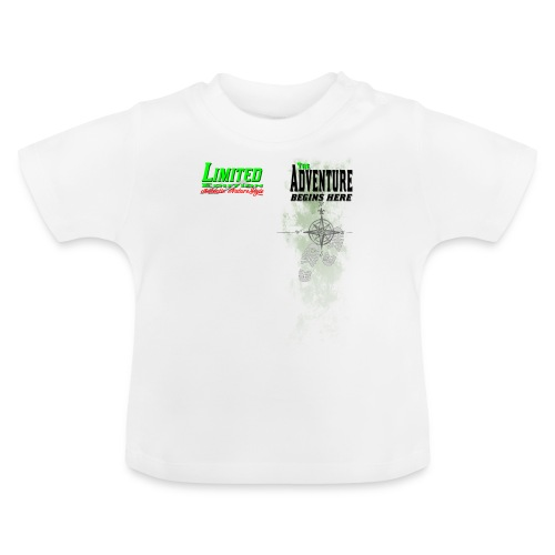 Limited Edition Wandern The Adventure begins here - Baby T-Shirt