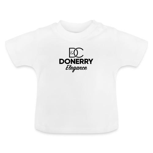 Donerry Elegance Black Logo on White - Baby T-Shirt