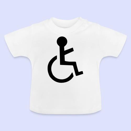 Wijzende rolstoel gebruiker - Baby T-shirt