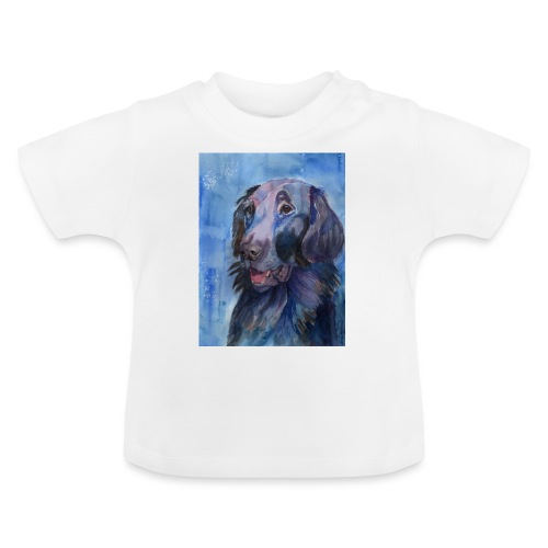 flatcoated retriever - watercolor - Baby T-shirt