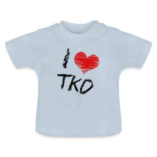 I love tkd letras negras - Camiseta bebé