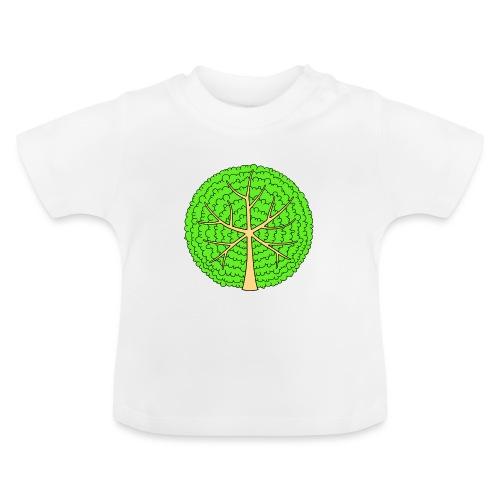 Baum, rund, hellgrün - Baby T-Shirt