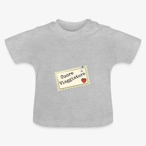 CUORE VIAGGIATORE Scritta con aeroplanino e cuore - Maglietta per neonato