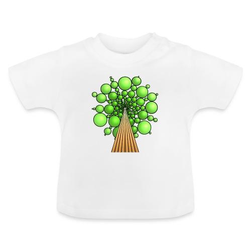 Kugel-Baum, 3d, hellgrün - Baby T-Shirt