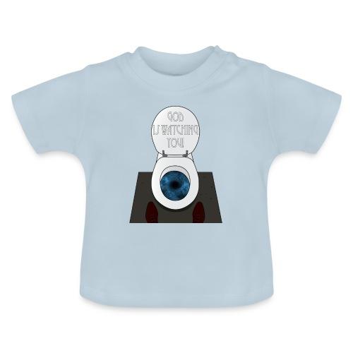 God is watching you! - Maglietta per neonato