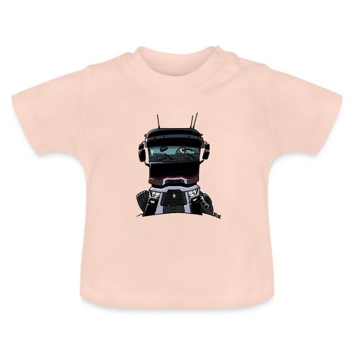 0813 R truck zwart - Baby T-shirt
