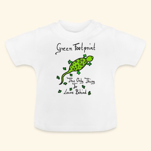 Gecko Green Footprint - Baby T-Shirt