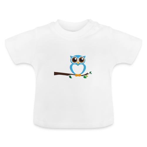 Blaue Eule - Baby T-Shirt