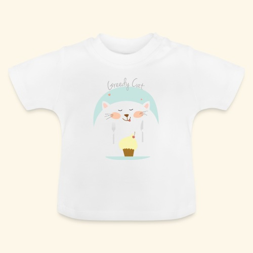 greedy cat - Camiseta bebé