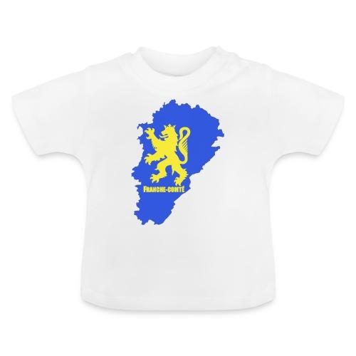 Carte Franche-Comté + lion - T-shirt Bébé