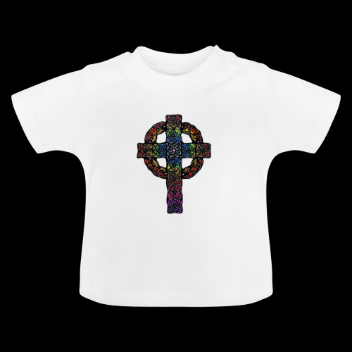 Celtic Cross - rainbow - Baby T-Shirt