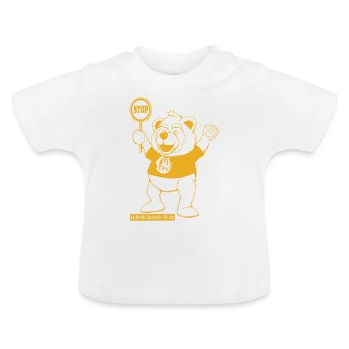 FUPO der Bär. Druckfarbe Orange - Baby T-Shirt