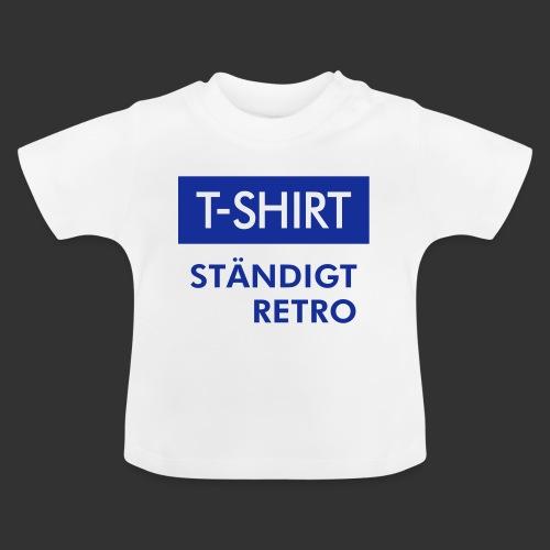 BLÅVITT T-SHIRT - Baby-T-shirt