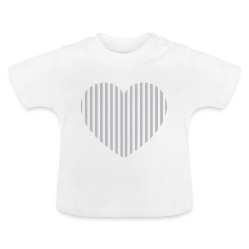 heart_striped.png - Baby T-Shirt