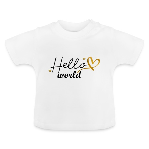 gold: hello world - (hallo wereld) - Baby T-shirt