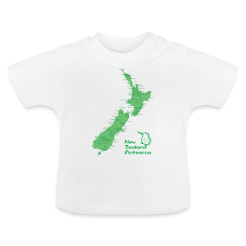 New Zealand's Map - Baby T-Shirt