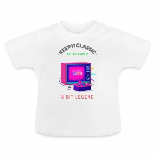 keep it classic 8bit gamer retro gaming old school - Baby T-Shirt