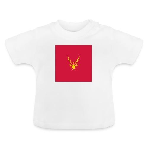 scimmiacervo sfondo rosso - Maglietta per neonato