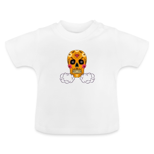 skul orange png - T-shirt Bébé