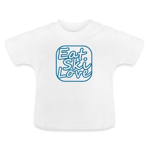 eat ski love - Baby T-shirt