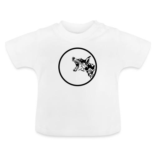 dog in a circle frame - T-shirt Bébé
